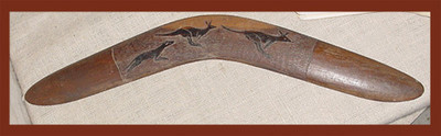Hand Carved Boomerang