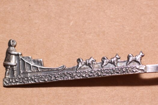 Dog Sled Sterling Spoon Engraved